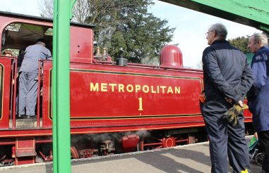 2014 - Watercress Line - Spring Steam Gala - Ropley - Metropolitan Railway E Class - 0-4-4T No 1