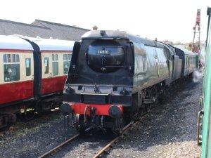 2014 - Swanage Railway - Swanage - Unrebuilt Battle of Britain class - 34070 Manston