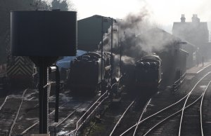 2014 - Watercress Line - Spring Steam Gala - Ropley - BR Standard 9F Class 92212 & 850 Lord Nelson