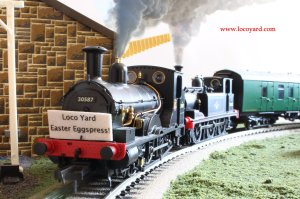 Loco Yard Easter Eggspress 2014 0 Dapol Kernow BR Beattie well tank 30587 & Hornby terrier 32670