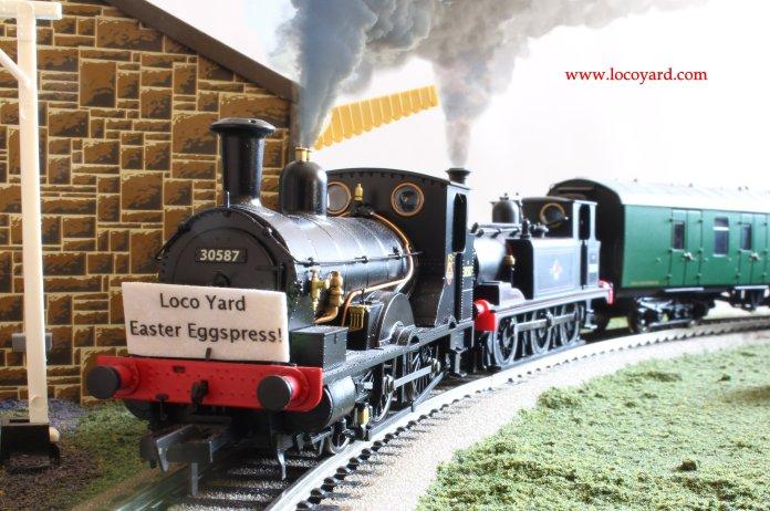 Loco Yard Easter Eggspress 2014 0 Dapol Kernow BR Beattie well tank 30587 & Hornby terrier 32670