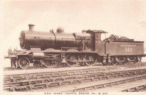 Southern Railway Postcard - LBSCR K class 2-6-0 B343