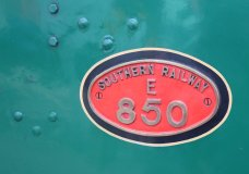 2014 - Watercress Railway - Alton - Southern Railway 850 Lord Nelson locomotive numberplate