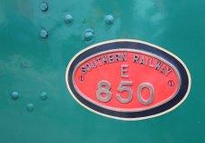 2014 - Watercress Railway - Alton - Southern Railway 850 Lord Nelson locomotive numberplate