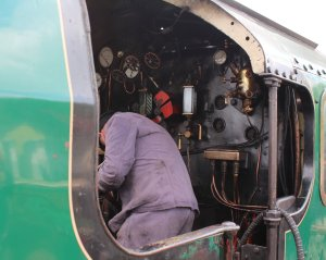 2014 - Watercress Railway - Alton - Southern Railway 850 Lord Nelson locomotive cab