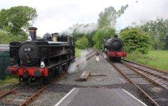 2014 Kent and East Sussex Railway 40th Anniversary Gala Bodiam 16xx Pannier Tank BR 1638 Hunslet Austerity 23 Holman F Stephens