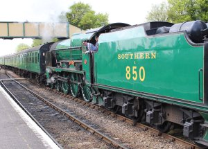 2014 - Watercress Railway - Ropley - Southern Railway 850 Lord Nelson locomotive