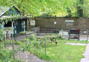 Bankside Miniature Railway - Brambridge Garden Centre 2014 - station