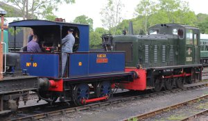 2014 Kent and East Sussex Railway 40th Anniversary Gala Tenterden Town Sentinal 0-4-0 10 Gervase Class 03 Diesel Shunter D.2023