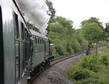 2014 Kent and East Sussex Railway 40th Anniversary Gala Rolvenden-Tenterden Bank 16xx Pannier Tank BR 1638