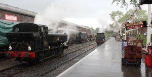 2014 Kent and East Sussex Railway 40th Anniversary Gala Tenterden Town 16xx Pannier Tank BR 1638 A1X Terrier ex-LBSCR 32678