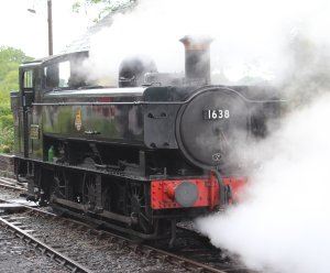 2014 Kent and East Sussex Railway 40th Anniversary Gala Tenterden Town 16xx Pannier Tank BR 1638