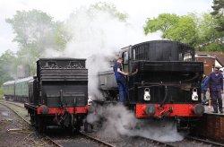 2014 Kent and East Sussex Railway 40th Anniversary Gala Tenterden Town A1X Terrier ex-LBSCR 32678 16xx Pannier Tank BR 1638