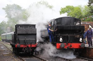 2014 Kent and East Sussex Railway 40th Anniversary Gala Tenterden Town A1X Terrier ex-LBSCR 32678 16xx Pannier Tank BR 1638