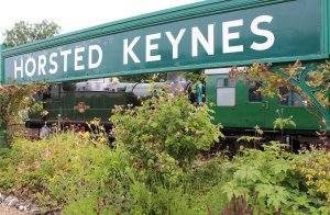 2014 Bluebell Railway - Horsted Keynes - Ex-GWR 56xx class - 5643 & sign