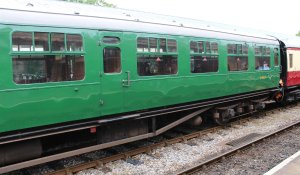 2014 Bluebell Railway - Horsted Keynes - Bulleid carriage coach 1464 TO Open Third
