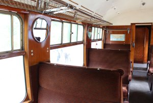 2014 Bluebell Railway - East Grinstead - Bulleid carriage coach 1464 TO Open Third
