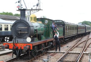 2014 Bluebell Railway - Horsted Keynes - SECR C class 592 exchange tokens