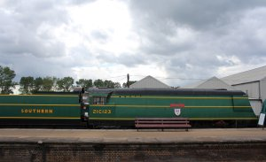 2014 Bluebell Railway - Sheffield Park - Southern Railway Bulleid West Country Pacific 21C123 Blackmoor Vale