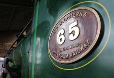2014 Bluebell Railway - Sheffield Park - South Eastern Railway (SECR) No.65 O1-class 0-6-0 numberplate