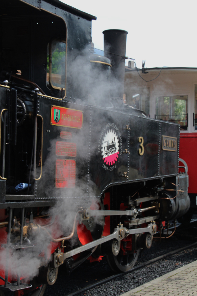 "Achenseebahn locomotive ""Georg"" (built 1889) at Jenbach, Austria; 28-06-14"