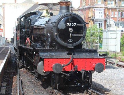 2014 Paignton and Dartmouth Steam Railway - View from Pullman Devon Belle Observation Car 7827 Lydham Manor