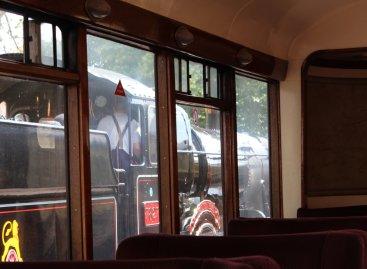 2014 Paignton and Dartmouth Steam Railway - View from Pullman Devon Belle Observation Car7827 Lydham Manor