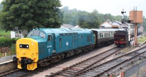 2014 South Devon Railway - Buckfastleigh - BR Class 37 D6975  6975  37275 - London Transport 57xx L.92 pannier tank
