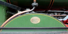 2014 South Devon Railway - Buckfastleigh - GWR 2251 Collett Goods Class BR lined - 3205 David Rouse memorial plaque