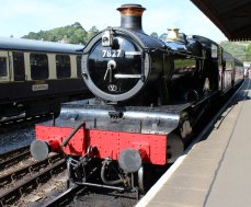 2014 Paignton and Dartmouth Steam Railway - Kingswear - 7827 Lydham Manor