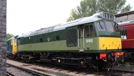 2014 South Devon Railway - Buckfastleigh - D7612 Class 25 Diesel