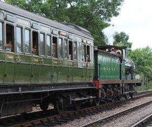 2014 Bluebell Railway - Sheffield Park - SECRC Class 592 Birdcage 2nd 3rd Lav Brake 1084 later Southern Railway No 3363