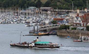 2014 - Locoyard - Paignton and Dartmouth Steam Railway - Kingswear Castle paddle steam and 7827 Lydham Manor