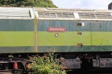 Dartmoor Railway 2014 - Meldon Viaduct (Class 477 No. 47701 Waverley nameplate)