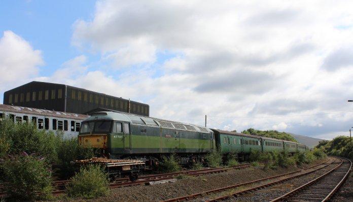 Dartmoor Railway 2014 - Meldon Viaduct (Class 477 No. 47701 Waverley)