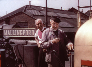 The crew of the Thunderbolt await the inspector at Mallingford (Bristol Temple Meads)