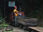 MR21282 reverses at the mine entrance