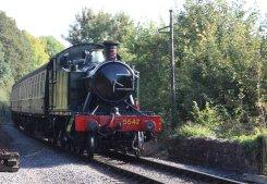 2014 West Somerset Railway Autumn Steam Gala - GWR 4575 Class 2-6-2T prairie 5542