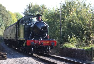 2014 West Somerset Railway Autumn Steam Gala - GWR 4575 Class 2-6-2T prairie 5542