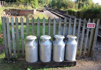 2014 West Somerset Railway Autumn Steam Gala - Stogumber - milk churns