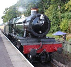 2014 West Somerset Railway Autumn Steam Gala - Stogumber - GWR 4936 Kinlet Hall as 4932 Hatherton Hall