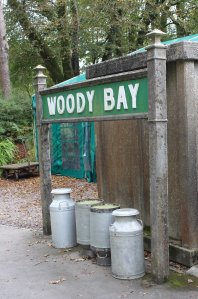 2014 Lynton and Barnstaple Railway - Woody Bay - station sign