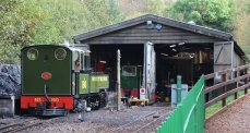 2014 Lynton and Barnstaple Railway - Woody Bay - Replica Manning Wardle 2-6-2T E190 Lyd engine shed