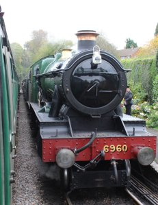 2014 Autumn Steam Gala Watercress Line - Medstead and Four Marks - GWR Modified Hall class 6960 Raveningham Hall