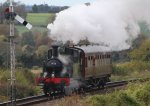 2014 Autumn Steam Gala Watercress Line - Approaching Ropley - Ex-GWR 14xx Class 1450 and Autocoach W238W