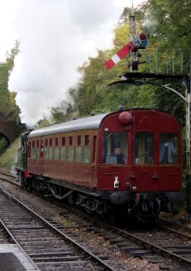 2014 Autumn Steam Gala Watercress Line - Alreford - Ex-GWR 14xx Class 1450 and Autocoach W238W
