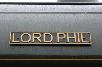 Nov 2014 Peak Rail Rowsley South - Hunslet Austerity 0-6-0ST Lord Phil nameplate