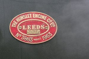Nov 2014 Peak Rail Rowsley South - Hunslet Austerity 0-6-0ST Lord Phil number plate