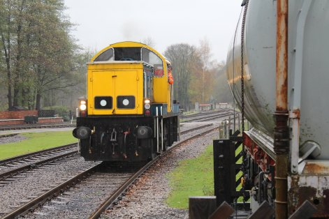Nov 2014 Peak Rail Rowsley South - Class 14 Diesel Shunter 14901