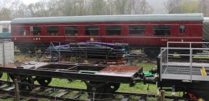Nov 2014 Peak Rail Rowsley South - LMS carriage Third Open 1501